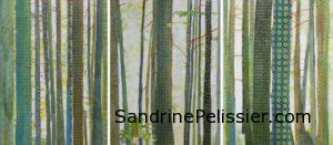 patterned tree painting by North Vancouver artist Sandrine Pelissier