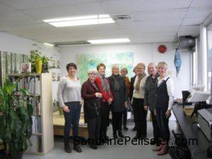 visit from the Vancouver art gallery group to North Vancouver studio
