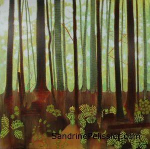 patterned trees by by North Vancouver artist Sandrine Pelissier