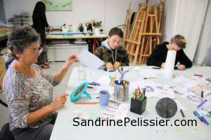 Culture days 2016 in North Vancouver artist Sandrine Pelissier studio