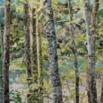 watercolor realistic forest