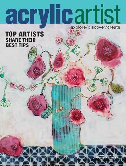 acrylic artist magazine cover by North Vancouver artist Sandrine Pelissier
