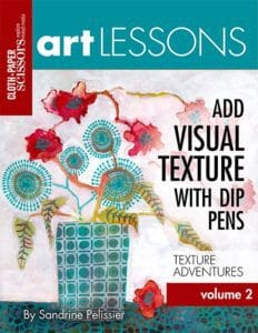 add visual texture with dip pens by North Vancouver artist Sandrine Pelissier