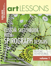 custom sketchbook with Spirograph designs by North Vancouver artist Sandrine Pelissier