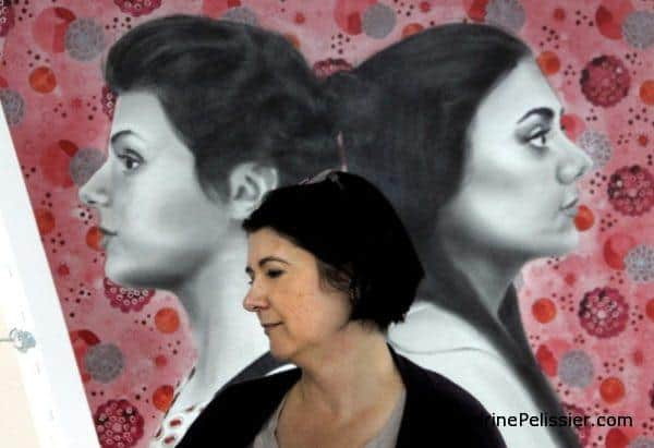 North Shore News feature North Vancouver artist Sandrine Pelissier and patterned portraits