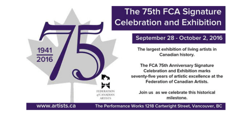 FCA 75th Anniversary Signature Celebration and Exhibition in Vancouver