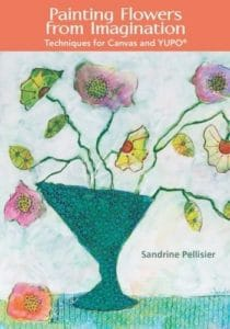 online class painting flowers from imagination by North Vancouver artist Sandrine Pelissier