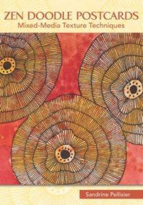 online class zen doodle postcards by North Vancouver artist Sandrine Pelissier