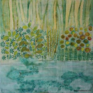 semi abstract west coast landscapes by North Vancouver artist Sandrine Pelissier