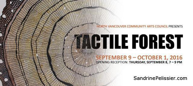 tactile forest exhibition in North Vancouver