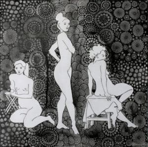 life drawing with patterns