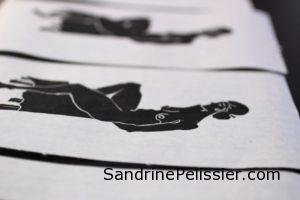 Linocut prints by North Vancouver artist Sandrine Pelissier
