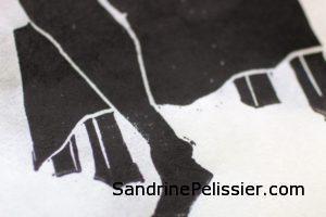 lino cut prints by North Vancouver artist Sandrine Pelissier