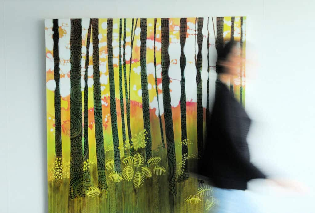 North Vancouver visual artist sandrine pelissier flowers forest paintings and life drawings